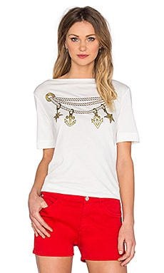 Love Moschino Short Sleeve Top in White
