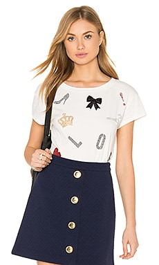 Love Moschino Love Heart Peace Tee in White