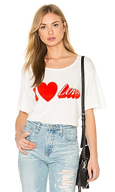 Love Moschino I love Tee in White
