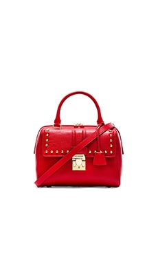 Love Moschino I Love Studs Satchel in Red