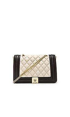 Love Moschino Quilted Shoulder Bag in Cream & Black