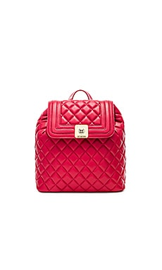 Love Moschino Quilted Backpack in Red