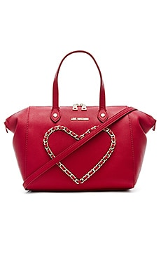 Love Moschino Heart Shoulder Bag in Red
