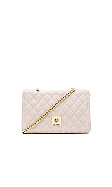 Love Moschino Quilted Shoulder Bag in Ivory