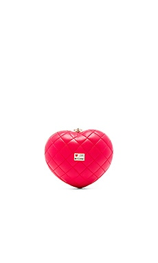 Love Moschino Quilted Heart Crossbody in Red