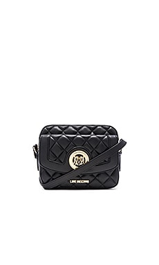 Love Moschino Quilted Crossbody in Black