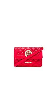 Love Moschino Quilted Crossbody in Red