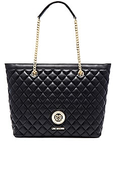 Love Moschino Quilted Tote in Black