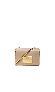 Love Moschino Love Plate Crossbody in Ivory