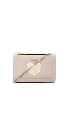 Gold Heart Crossbody in Ivory