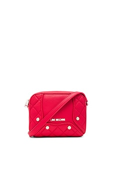 Fashion Quilted Crossbody in Red