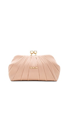 Love Moschino Satin Clutch in Nude