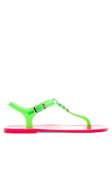 Love Moschino Hearts Sandal in Fuchsia & Orange