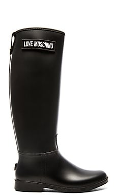 Love Moschino Rainboot in Black