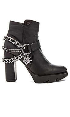 Love Moschino Chain High Bootie in Black