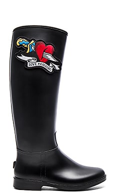 Love Moschino Heart Rain Boot in Black