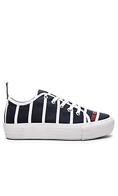 Love Moschino Stripe Sneaker in Navy