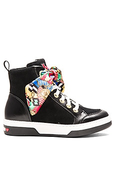Love Moschino Nautical Sneaker in Black