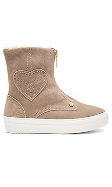 Ankle Boot with Sherpa Lining in Beige