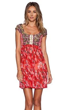 Maaji Rosy Horsey Mini Dress in Red & Multi