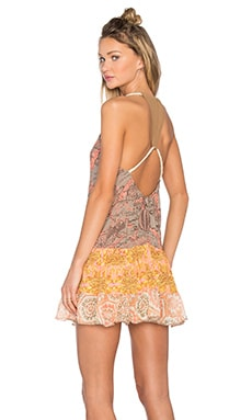 Maaji Georgia Sweet Tea Mini Dress in Grey & Orange Multi