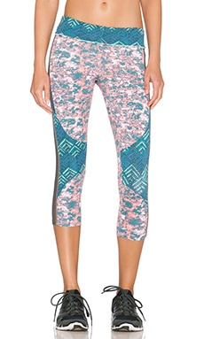 Maaji Juicy Dawning Daisies Capri Pant in Moss Envelope