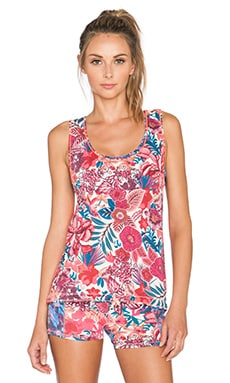 Maaji Blooming The Sky Tank Top in Hibiscus Blush