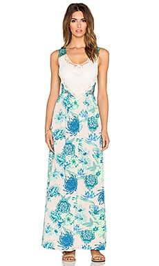 Maaji Floral Maxi Dress in Payote Coyote
