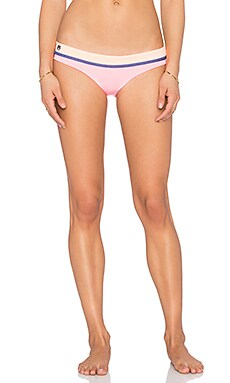 Flamingo Timbers Bikini Bottom in Pink & Peach