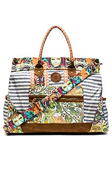 Maaji Weekender Bag in Lime & Orange Multi