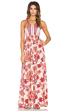 Maaji Forever Red Maxi Dress in Red Floral Multi