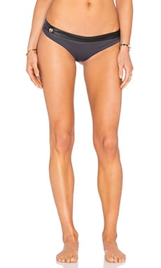 Maaji Graphite Traveler Bikini Bottom in Grey & Black