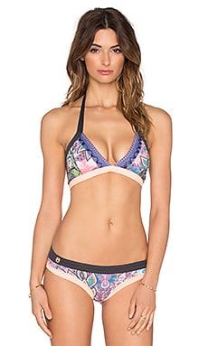 Maaji Floral Traces Bikini Top in Purple Multi