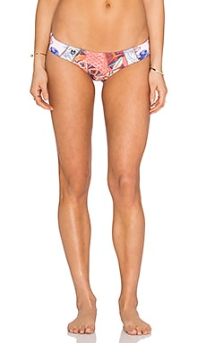 Dear Hitchhiker Bikini Bottom in Coral Multi