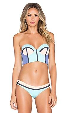 Maaji Colorblock Bikini Top in Pale Turquoise Tumbers