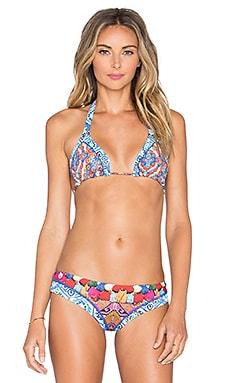 Maaji Triangle Bikini Top in Tassels & Tiles
