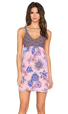 Maaji Secret Wonderland Mini Dress in Pink & Purple Multi