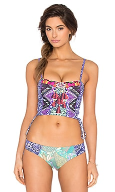 Maaji Folky Lullaby Bikini Top in Purple Multi