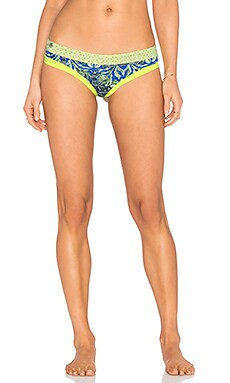 Maaji Sublime Rhyme Bikini Bottom in Lime & Blue Multi