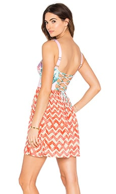 Maaji Flirty Poetry Dress in Pink Multi