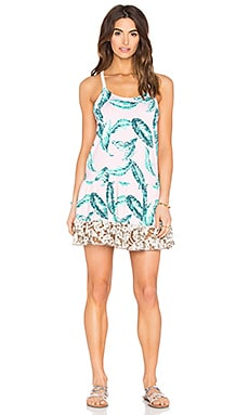 Leafy Watercolor Dress
