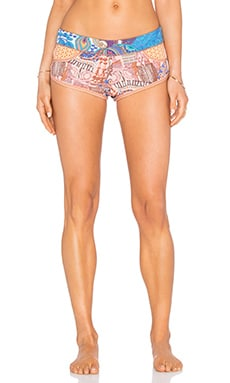 Maaji Bronze Shore Short in Navy & Peach Multi