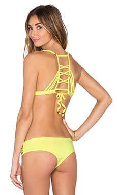 Firefly Stream Bikini Top in Yellow