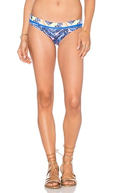 Tropic Cubism Bikini Bottom in Pink & Blue Multi