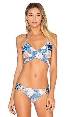 Golly Wolly Jelly Bikini Top en Purple Print