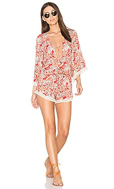 Pom Cosmo Romper in Red Multi