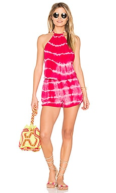 Berry Lovely Romper in Pink Tie Dye