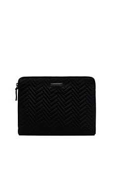Mackage Laptop Case in Black & Gunmetal