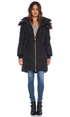 Mackage Eileen Jacket with natural Raccoon fur  in Black