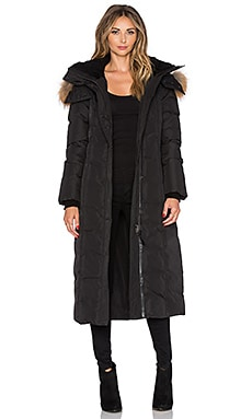 Jada Jacket with Asiatic Raccoon and Sheepskin in Black